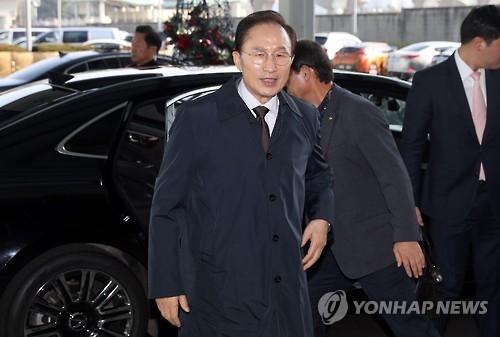 韩前总统李明博计划年初退出执政党新世界党