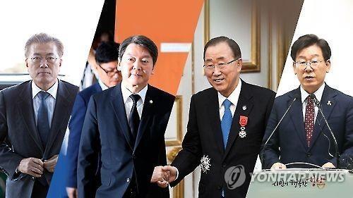 民调:韩下届大选潜在候选人支持率文在寅力压潘基文