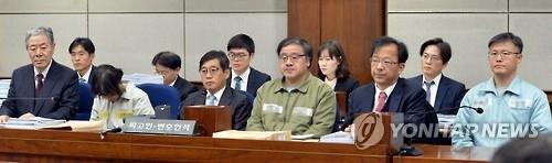 详讯:韩亲信门三名核心涉案人首次同庭受审