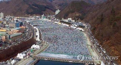 韩华川山鳟鱼庆典开幕在即 外国游客预约较去年翻番