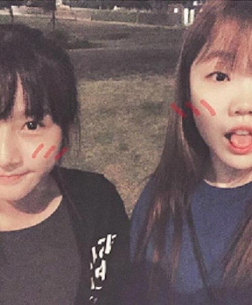 李秀贤(右)与金赛纶(韩联社/李秀贤Instagram)