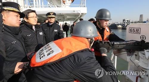 韩代总统登船视察称严肃处置犯境捕捞中国渔船