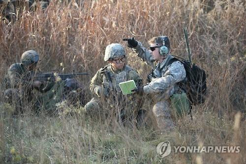 资料图片:韩美联合军演现场照(韩联社)