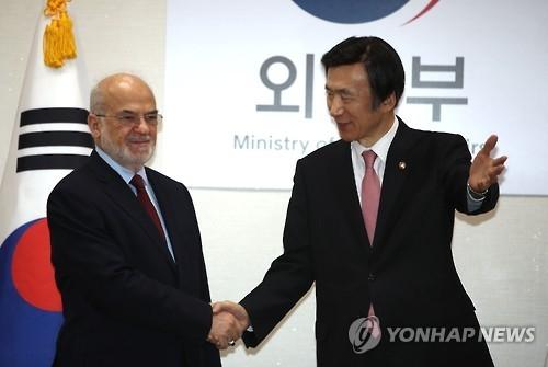 韩外长尹炳世会晤伊拉克外长贾法里