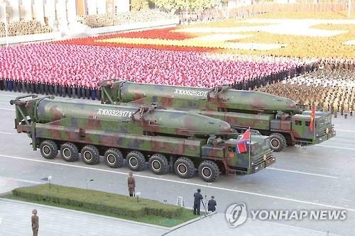 韩军:朝鲜随时可试射洲际弹道导弹
