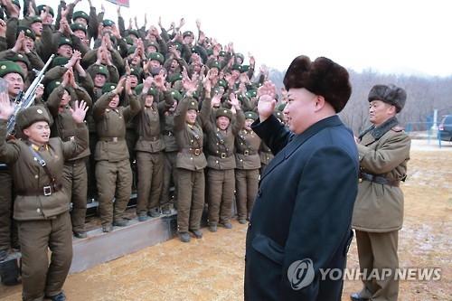 金正恩今年第二次视察部队强调加强训练