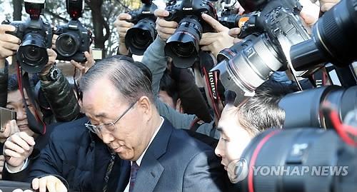 详讯:潘基文宣布不竞选韩国总统