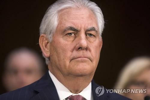资料图片:美国国务卿雷克斯·蒂勒森(韩联社/欧新社)