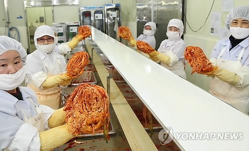 韩国2016年对华泡菜出口同比翻两番