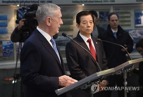 详讯:美防长称萨德对朝不对华 韩美防长商定为军演加码