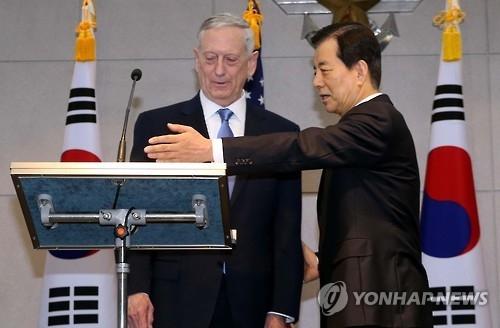 美防长提议与韩防长保持24小时沟通