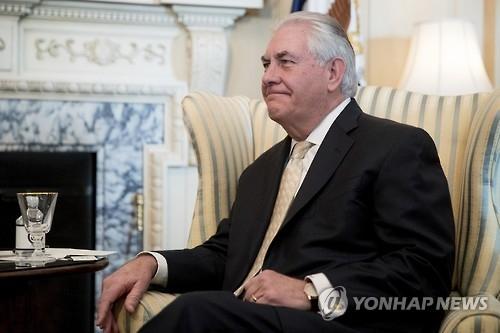 美国国务卿雷克斯•蒂勒森(韩联社/美联社)
