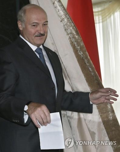 白俄罗斯总统卢卡申科(韩联社/美联社)
