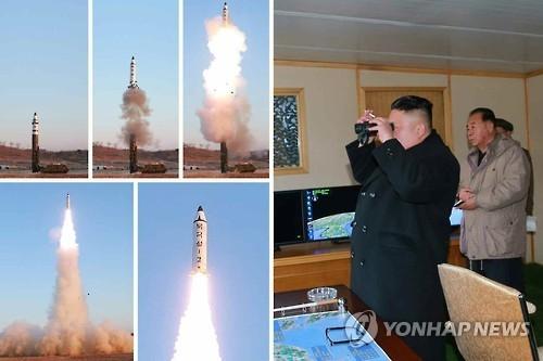 简讯:朝媒公开新型中程弹道导弹发射视频