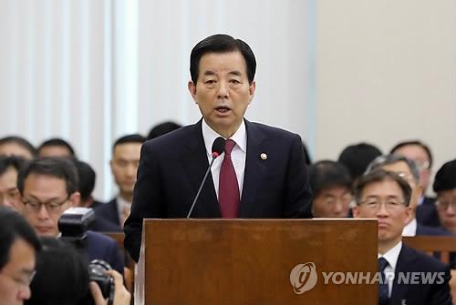 韩防长:在朝鲜射弹前已向代总统汇报相关动向