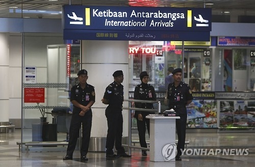 图为金正男在马来西亚吉隆坡机场遇害地点。(韩联社)