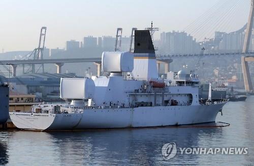 美最新导弹测量船2月初驶入釜山港
