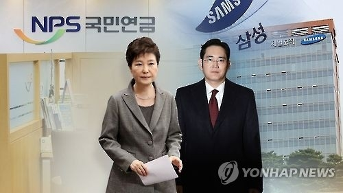 韩总统朴槿惠(左)与李在镕