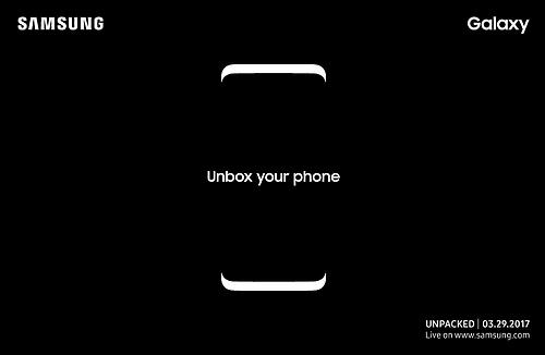 三星预告3月29日发布Galaxy S8