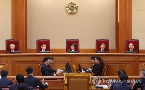 简讯:韩总统弹劾案最终庭审历时6个半小时结束