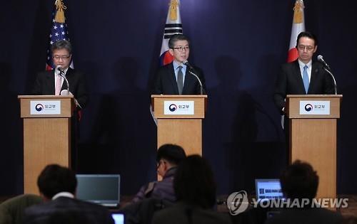 韩美日商定就金正男遇刺案保持沟通