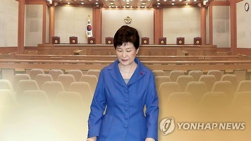 韩国总统朴槿惠站在东山再起与末日来临的十字路口,等待宪法法院最后的审判。(韩联社)