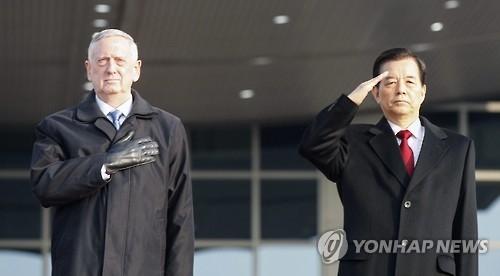 简讯:韩美防长通话誓言粉碎任何攻击