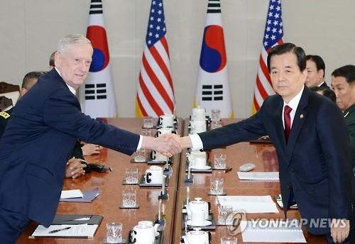 详讯:韩美军演首日防长通话誓言粉碎任何攻击