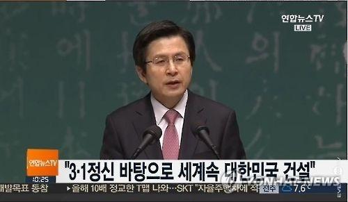 韩代总统:将让朝鲜觉悟核武毫无用处