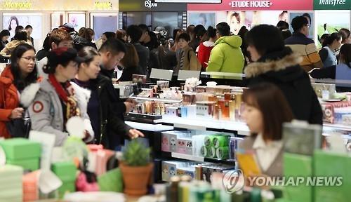 中国禁售韩国游产品或致韩免税店销售损失超240亿