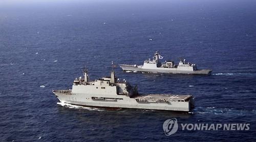 韩欧海军首次在亚丁湾进行联合军演