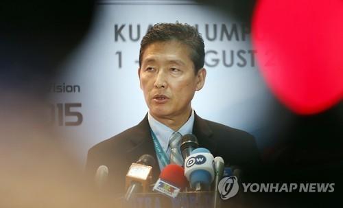 资料图片:朝鲜前常驻联合国副代表李东日(韩联社)
