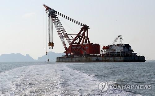 """韩海水部:""""世越""""号首次打捞拟于4月5日进行"""