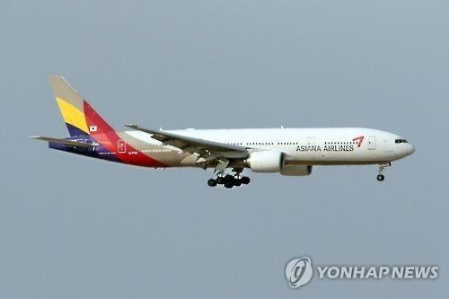 资料图片:韩亚客机(韩联社)