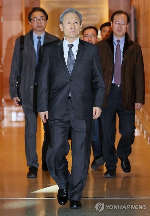 资料图片:韩国青瓦台国家安全室室长金宽镇(韩联社)