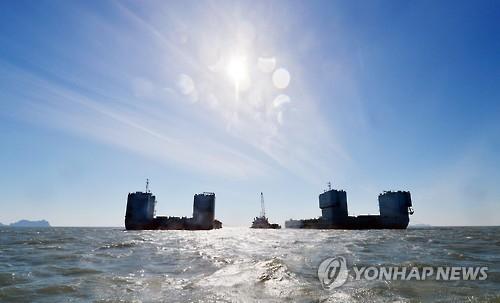 """韩海水部:""""世越""""号或于明日进行首次打捞"""