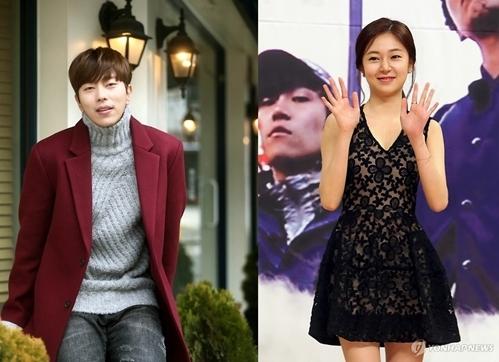 资料图片:演员尹贤敏(左)和白珍熙(韩联社)