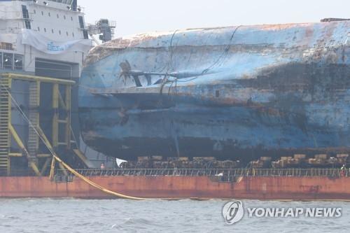 详讯:世越号沉船打捞现场发现疑似失踪者遗体