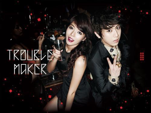 图为混声组合Trouble Maker,左一为泫雅(韩联社/CUBE娱乐提供)