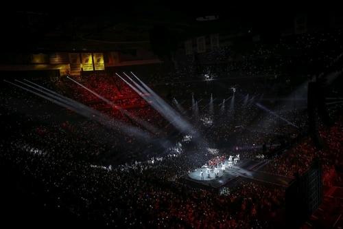 防弹少年团北美巡回演唱会现场照(Big Hit娱乐提供)