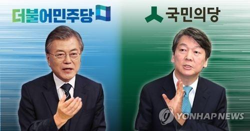 """韩大选较量逐渐形成""""文安""""两强争霸格局"""