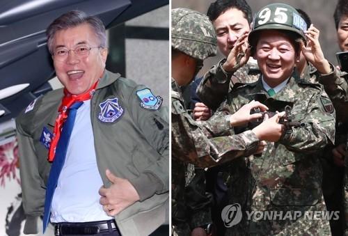 韩总统候选人文在寅安哲秀改口挺萨德迎合中立选民