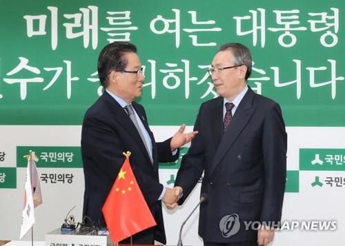 韩国民之党主席与武大伟讨论萨德朝核