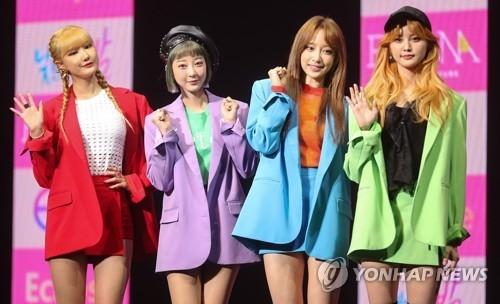 女团EXID除率智以外的4名成员(韩联社)