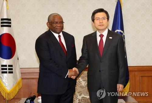 韩代总统会安哥拉外长 商定合作应对朝核问题