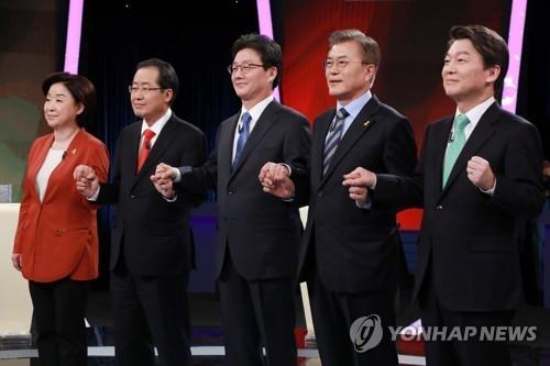 韩大选二辩五人就朝核与萨德问题展开舌战