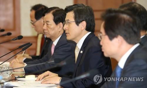 韩代总统要求各部门密切关注朝鲜挑衅可能性