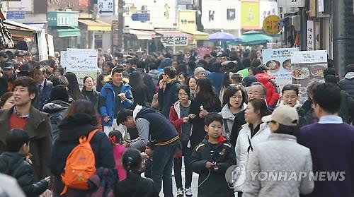 统计:韩人口平均年龄近9年老4岁