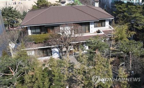 资料图片:位于首尔三成洞的朴槿惠私邸(韩联社)