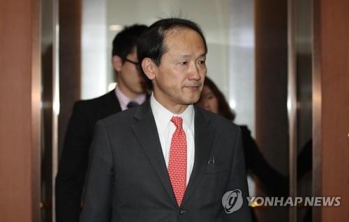 资料图片:日本驻韩国大使馆总括公使铃木秀生(韩联社)